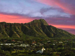 Oahu, Hawaii: Dive Trip - Diamond Head at Sunset